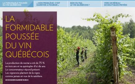 La formidable poussée du vin québécois