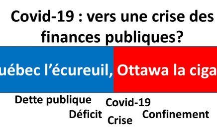 Québec l'écureuil, Ottawa la cigale